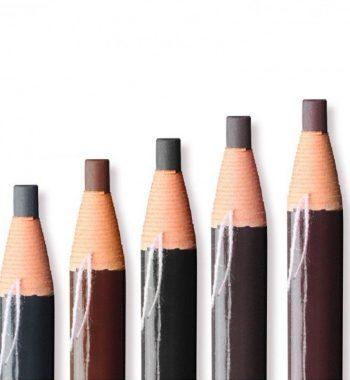 Карандаш самозатачивающийся водостойкий, черный/коричневый/серый