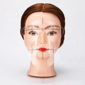 Линейка-маска пластик