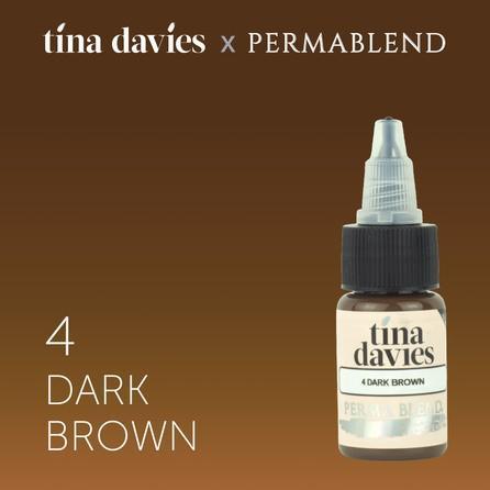 "Краска для татуажа бровей ""Tina Davies 'I Love INK' 4 Dark Brown"""