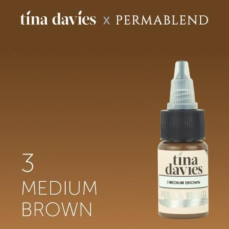 "Краска для татуажа бровей ""Tina Davies 'I Love INK' 3 Medium Brown"""