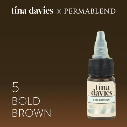 "Пигмент для татуажа бровей ""Tina Davies 'I Love INK' 5 Bold Brown"""