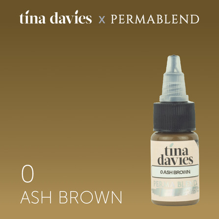 "Пигмент для татуажа бровей ""Tina Davies 'I Love INK' 0 Ash Brown"""