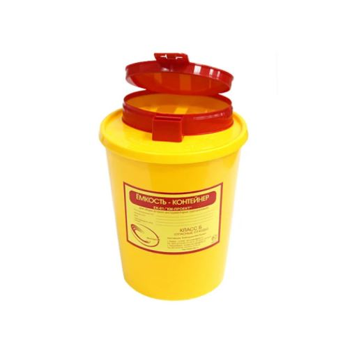 Емкость для колющих и режущих отходов, 1 л