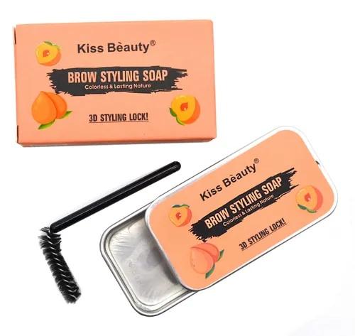 KISS BEAUTY Фиксирующее мыло для бровей с экстрактом персика